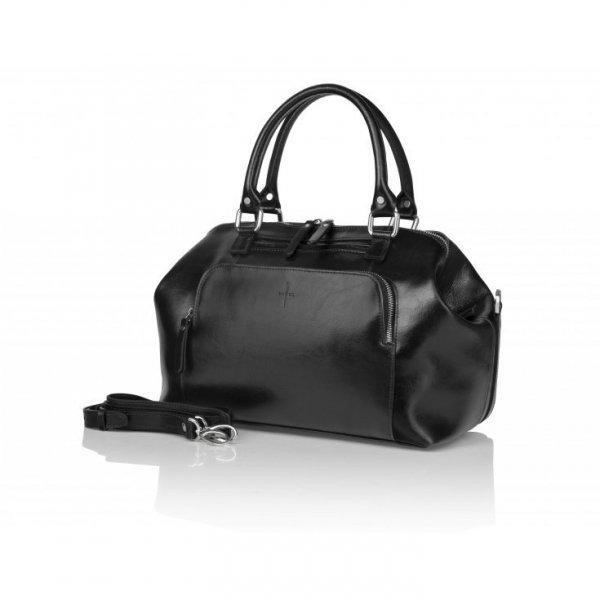 Czarna torba ze skóry naturalnej