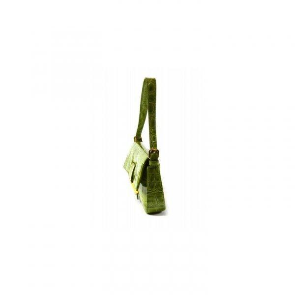 Oryginalna lakierowana zielona krokodylka Sara Burglar