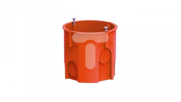 Puszka podtynkowa 60mm głęboka z wkrętami pomarańczowa PK-60 LUX 0206-51 /60szt/
