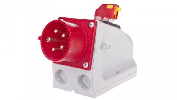 Wtyczka odbiornikowa KOMBI 16A 5P 400V czerwona IP44 615-6W