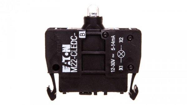 Oprawka z LED niebieski 12-30V AC/DC M22-CLEDC-B 218062