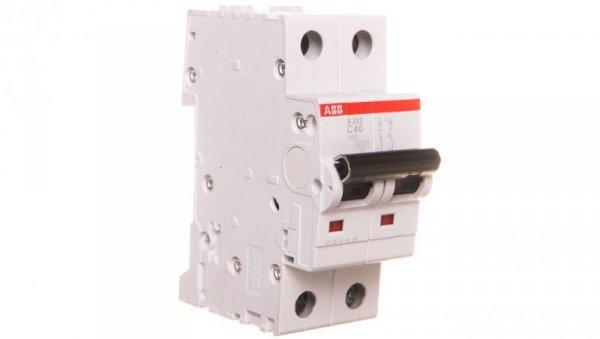 Wyłącznik nadprądowy 2P C 40A 6kA AC S202-C40 2CDS252001R0404