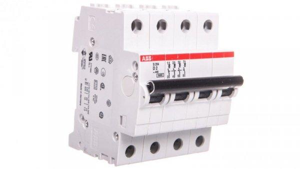 Wyłącznik nadprądowy 4P D 2A 6kA AC S204-D2 2CDS254001R0021