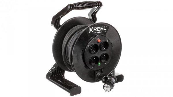 Przedłużacz bębnowy XREEL 20mb H05RR-F 3x2,5 IP20 4xGS 230V 92501T48223