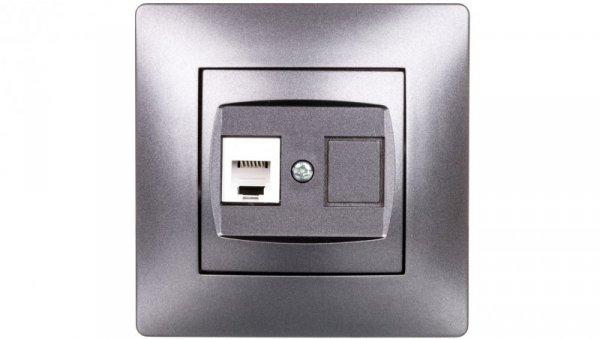 VOLANTE Gniazdo telefoniczne pojedyncze RJ11 grafitowe 2650-08