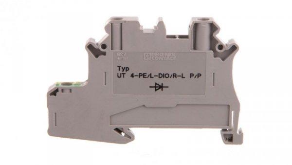 Złączka szynowa elementów kontrolnych 2-przewodowa 4mm2 szara UT 4-PE/L-DIO/R-L P/P 3046235 /50szt./