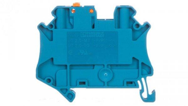 Złączka przelotowa 2-przewodowa z odłącznikiem nożowym 2,5mm2 niebieska UT 2,5-MT BU 3046553 /50szt./