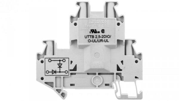 Złączka szynowa elementów kontrolnych 2-piętrowa 4-przewodowa 2,5mm2 szara UTTB 2,5-2DIO/O- 3046676