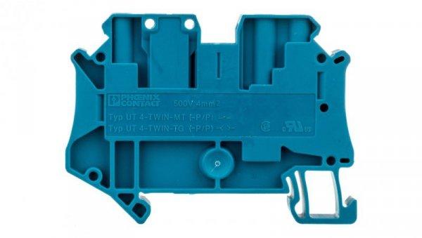 Złączka szynowa rozłączalna 3-przewodowa 4mm2 niebieska UT 4-TWIN-TG P/P BU 3073047 /50szt./