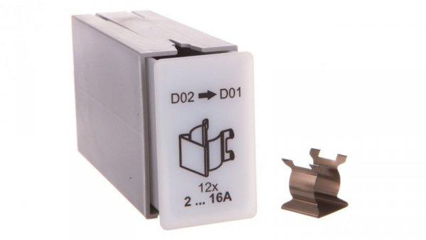 Redukująca sprężyna adaptera dla wkładki D02 do D01 0000101774T