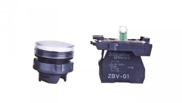 Lampka sygnalizacyjna 22mm biała 110-120V AC XB5AVG1
