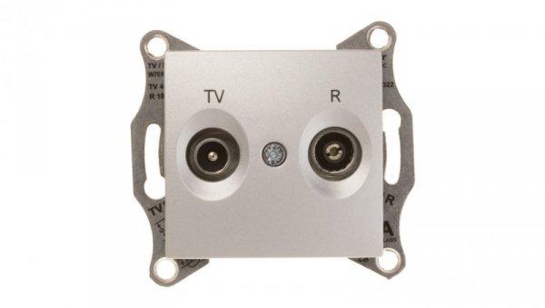 Sedna Gniazdo antenowe RD/TV przelotowe aluminium SDN3301860