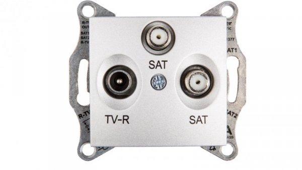 Sedna Gniazdo antenowe TV/SAT/SAT końcowe aluminium SDN3502160
