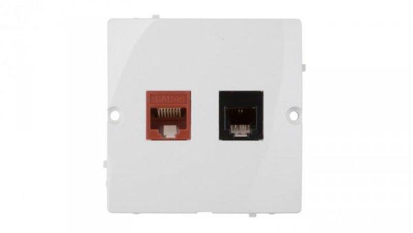 Simon Basic Gniazdo teleinformatyczne RJ45 kat.5e + RJ11 białe BMF5T.02/11