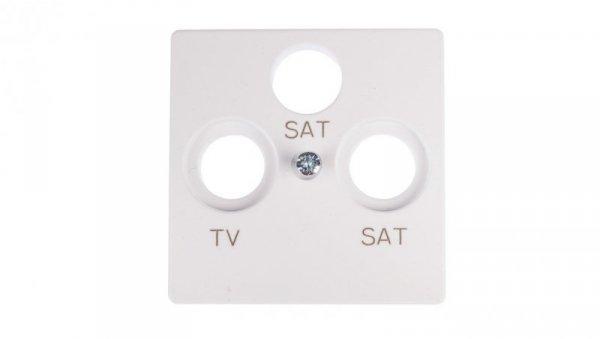 Simon 82 Pokrywa gniazda antenowego RTV/SAT/SAT biała 82038-30