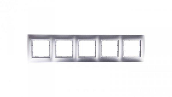 Simon 54 Premium Ramka pięciokrotna srebrny mat DR5/43