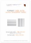 ulotka 2xDL składana do DL, druk pełnokolorowy obustronny 4+4, na papierze kredowym, 170 g, 10000 sztuk