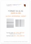ulotka A4 składana do A5, druk pełnokolorowy obustronny 4+4, na papierze kredowym, 250 g, 2500 sztuk