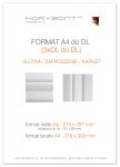 ulotka A4 składana do DL-Z/C, druk pełnokolorowy obustronny 4+4, na papierze kredowym, 130 g, 250 sztuk