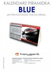 kalendarz biurkowy piramidka  - BLUE - 100 sztuk
