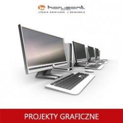 projekt graficzny, skład z przygotowaniem do druku pliku graficznego - biznes karty lub wizytówki (do produkcji Horyzont)