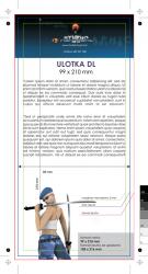 ulotka DL, druk pełnokolorowy obustronny 4+4, na papierze kredowym 170 g, 50 sztuk