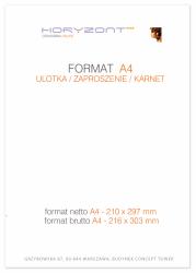 ulotka A4, druk pełnokolorowy obustronny 4+4, na papierze kredowym, 130 g, 250 sztuk