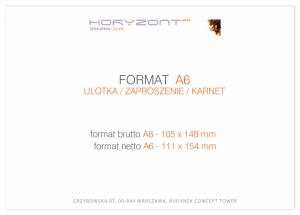 zaproszenie - karta A6, druk dwustronny, kreda 350 g, bez folii 500 sztuk