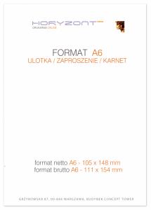 ulotka A6, druk pełnokolorowy obustronny 4+4, na papierze kredowym, 170 g, 2500 sztuk
