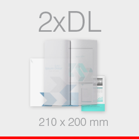 karty, zaproszenia składane format 2xDL do DL