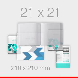 21 x 21 - 210 x 210 mm