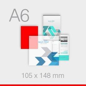 ulotki A6 - 105 x 148 mm