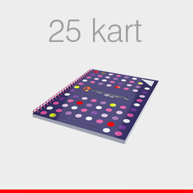 notesy 25 kart
