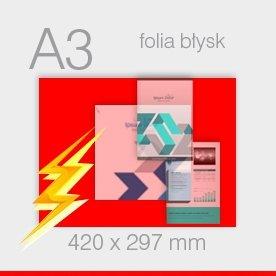 ulotki foliowane A3 - 297 x 420 mm