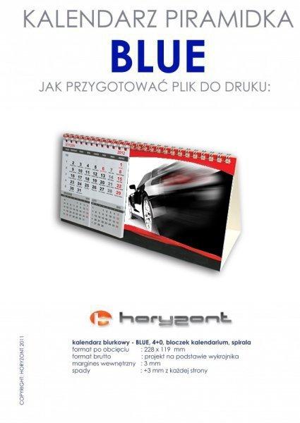 "kalendarz biurkowy ""piramidka""  - BLUE - 100 sztuk"