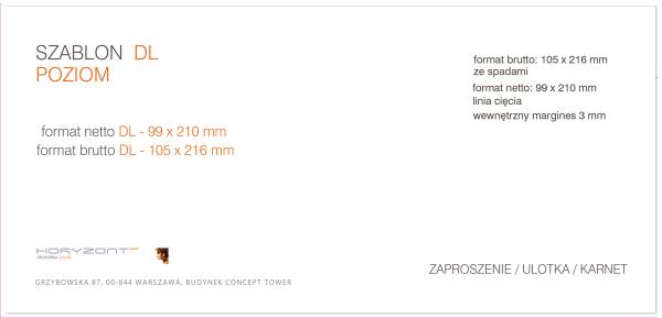 ulotka DL, druk pełnokolorowy obustronny 4+4, na papierze kredowym, 130 g, 2500 sztuk