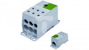 Blok rozdzielczy AL/CU 1-potencjałowy 175A we 1x95-240mm2 wy 6x10-50mm2 zielony AUX38503PE 82125005