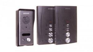 Zestaw domofonowy jednorodzinny z interkomem bezsłuchawkowy czarny ELUVIO INTERCOM OR-DOM-RE-920/B