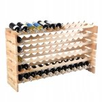 Drewniany regał stojak na wino na 72 butelki