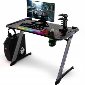 Biurko gamingowe - komputerowe z podświetleniem led