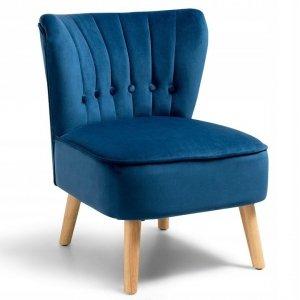 Fotel tapicerowany do salonu niebieski