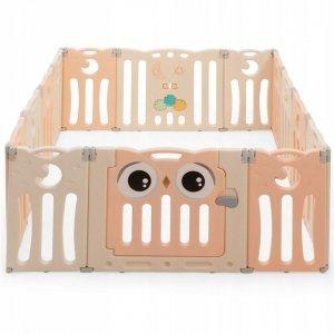 Modułowy kojec dla dzieci z bramką bezpieczeństwa