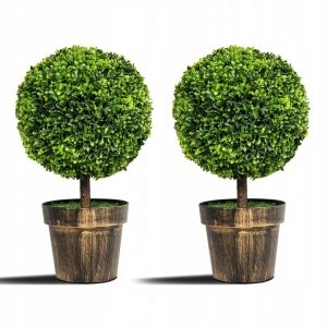 Sztuczne roślina ozdobna Bukszpan 55cm zestaw 2 szt.