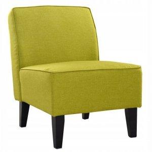 Fotel tapicerowany zielony