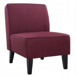 Fotel tapicerowany fioletowy