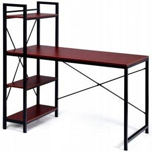 Biurko z regałem i półkami