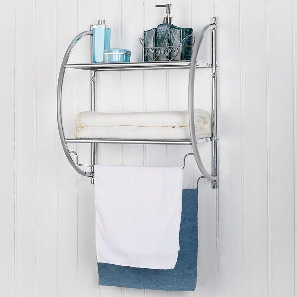 Półka łazienkowa wieszak na ręczniki