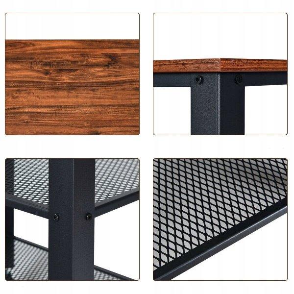 Stolik na kółkach z 2 półkami