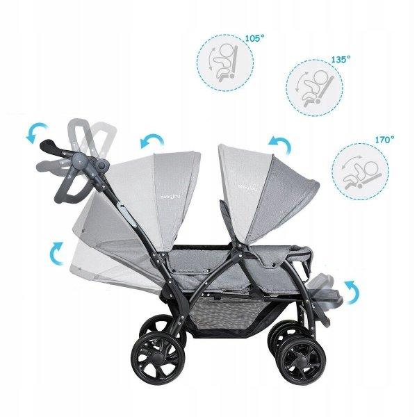 Podwójny wózek dziecięcy spacerówka