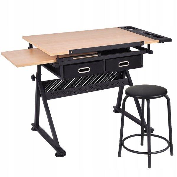 Regulowany stół kreślarski